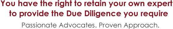 The Right to Due Diligence. Passionate Advocates. Proven Approach.